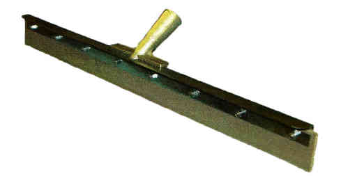 "24"" Straight EPDM Gray Squeegee Head w/ Handle"