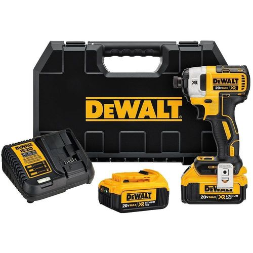 "DEWALT DCF887M2 20V MAX XR Li-Ion 4.0 Ah Brushless 0.25"" 3-Speed Impact Driver Kit"