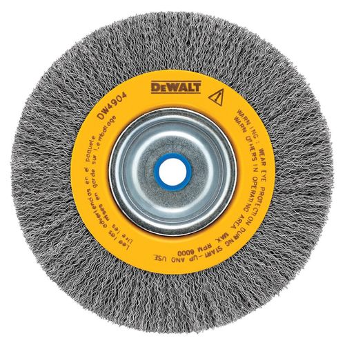 "DEWALT Carbon Crimped Wire Wheel Brush 5/8""-1/2"" Arbor"
