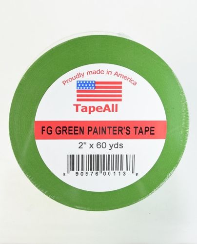 "TAPE ALL Green Painter's Tape, 2"" x 60 yds"