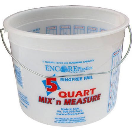 ENCORE PLASTICS Mix 'n Measure 5 Qt Ringfree Pail