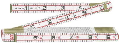 LUFKIN 6 ft. Red End Engineers Ruler Folding, Wood