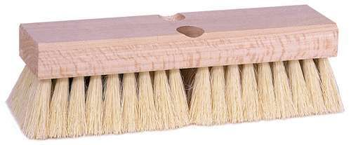 "Tampico 10"" Deck Scrub Brush with 1 Tapered and 1 Threaded Hole"