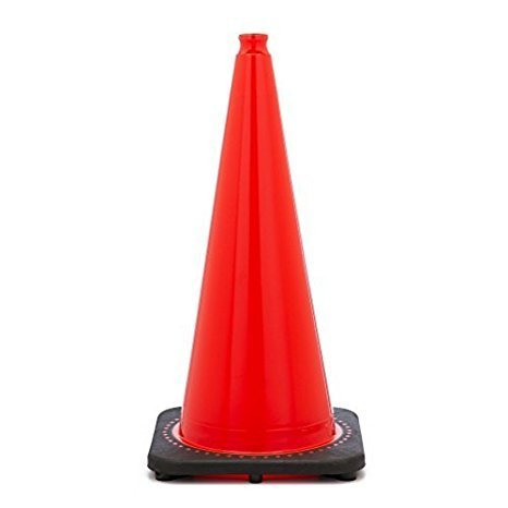 "28"" Orange Traffic Safety Cone with Black Base"