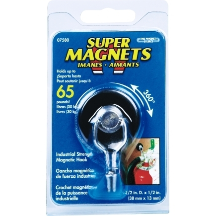 MASTER MAGNETICS Magnetic Hook with Rotating and Swing Hook