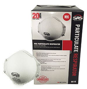 SAS N95 Particulate Respirators, Qty 20
