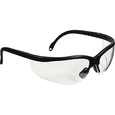 CORDOVA Boxer Black Safety Glasses, Clear/Anti-Fog Lens