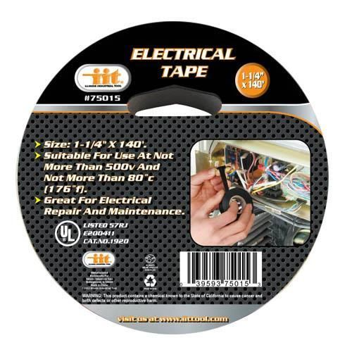 "IIT Electrical Tape, 1-1/4"" x 140'"