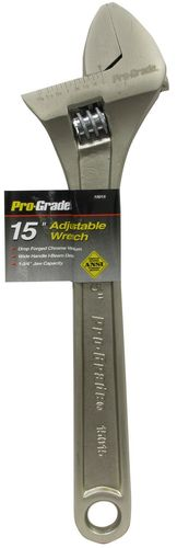 "PRO-GRADE 15"" Adjustable Wrench"