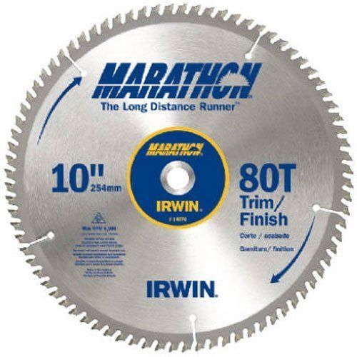 "IRWIN 10"" Carbide Trim/Finish Table/Miter Circular Saw Blade, 80T"