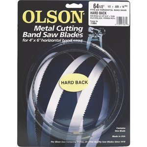 "OLSON 64-1/2"" x 1/2"" Metal Cutting Band Saw Blade, Hard Back"