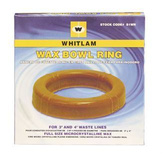 "WHITLAM Wax Bowl Ring, 3"" and 4"" Waste Lines"