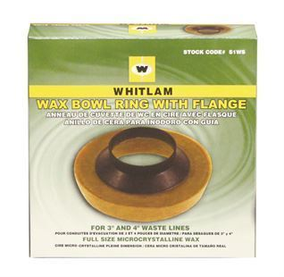 "WHITLAM Wax Bowl Ring w/ Flange, 3"" and 4"" Waste Lines"