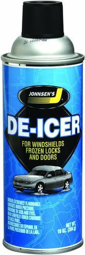 JOHNSEN'S De-Icer for Windshields, Frozen Locks and Doors, 10 Oz Can