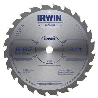 "IRWIN General Purpose Table/Miter 8""-8-1/4"", 24T  Circular Saw Blade"
