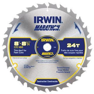 "IRWIN General Purpose 8""- 8-1/4"", 24T Table/Miter Circular Saw Blade"