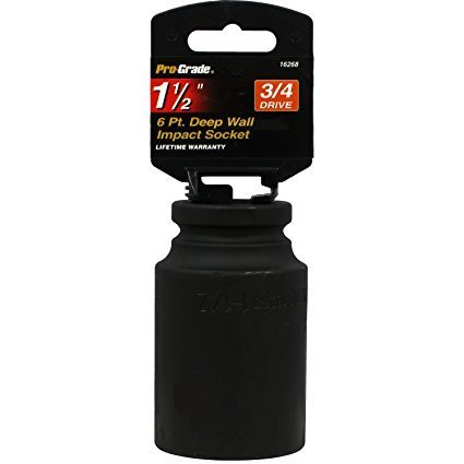 "PRO-GRADE 3/4"" Drive 6 Point Deep Wall 1-1/2"" Impact Socket"