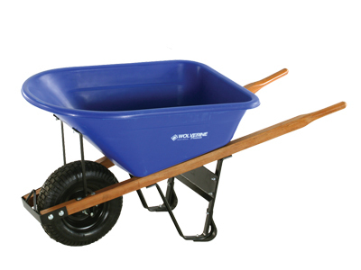 WOLVERINE 6 Cu Ft Poly Wheelbarrow