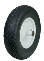"WOLVERINE 15"" Flat Free Replacement Tire, Wheelbarrow"