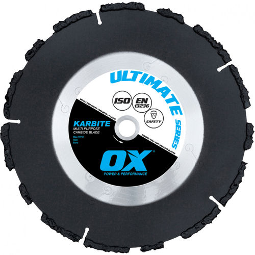 "OX 14"" Ultimate Multi-Purpose Carbide Blade, 1"" (20mm) Bore"