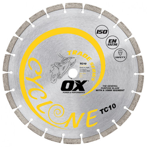 "OX 14"" Trade General Purpose/Concrete Diamond Blade, 1"" Bore"